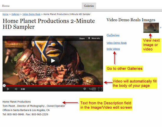 View Image-Video Detail Page